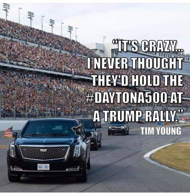 Daytona 500 at a Trump rally
