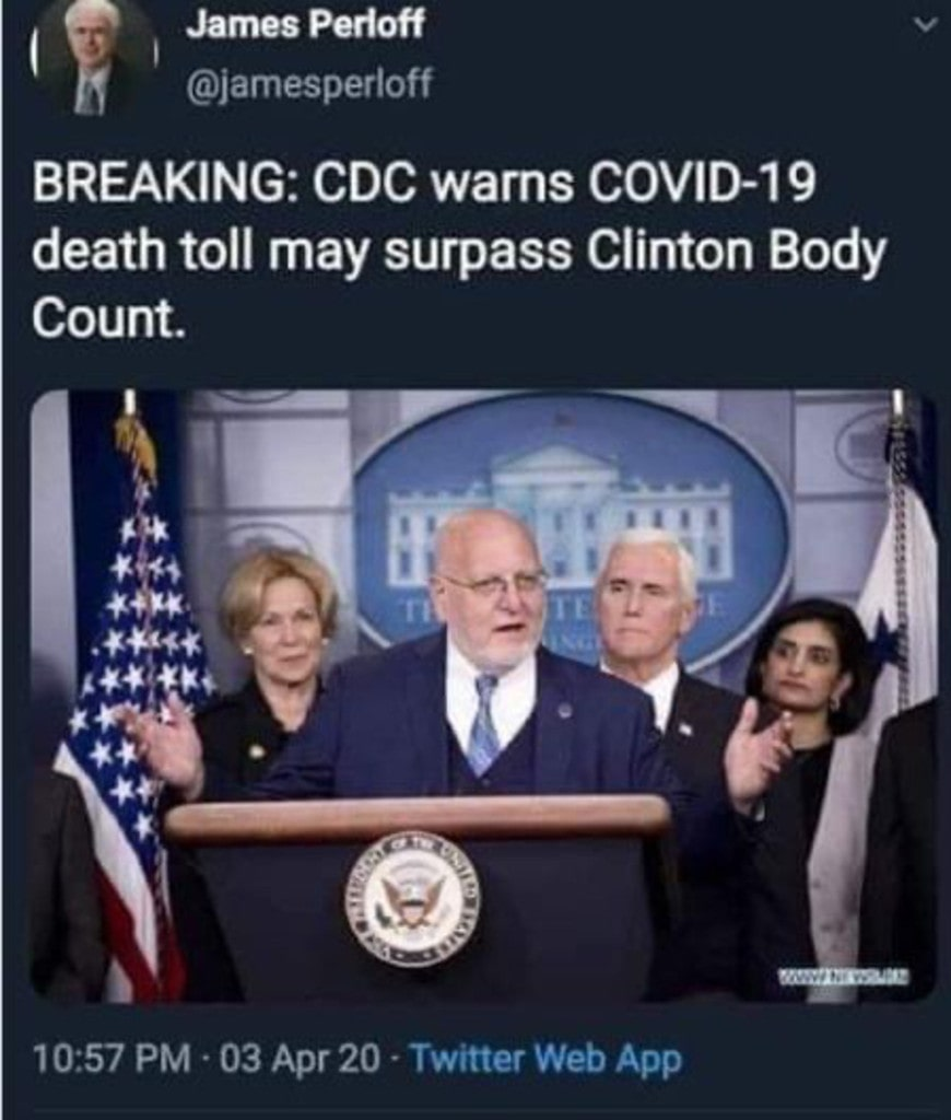 Clinton body count and COVID-19