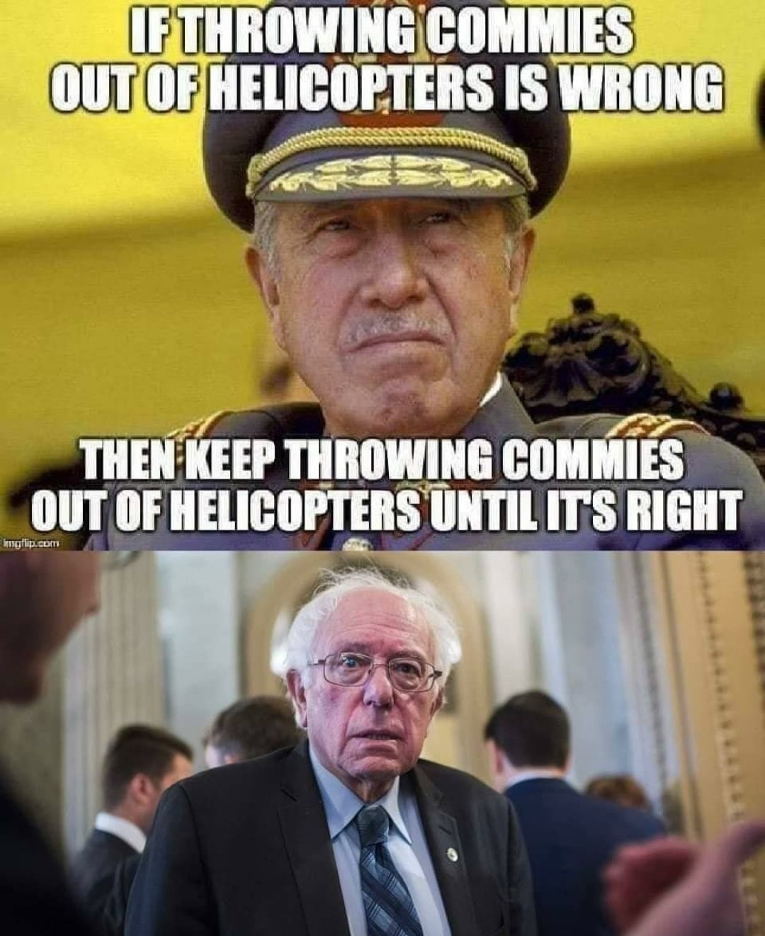 Commies and helicopters