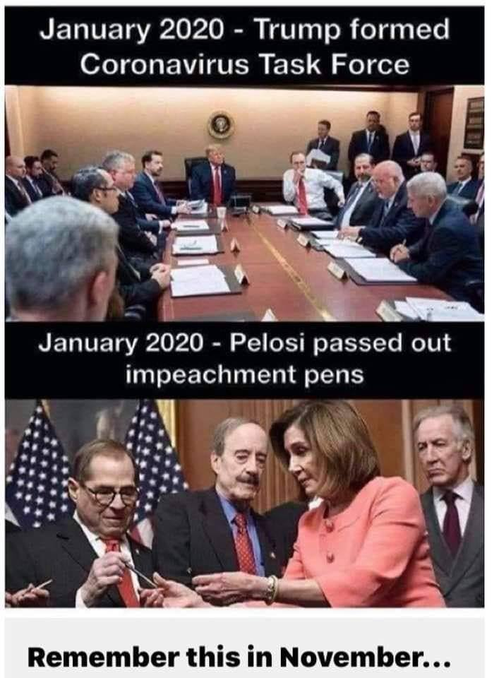 Trump and Pelosi in January 2020