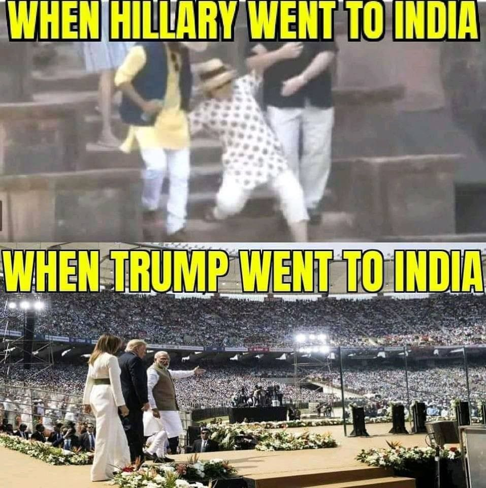 Trump and Hillary in India