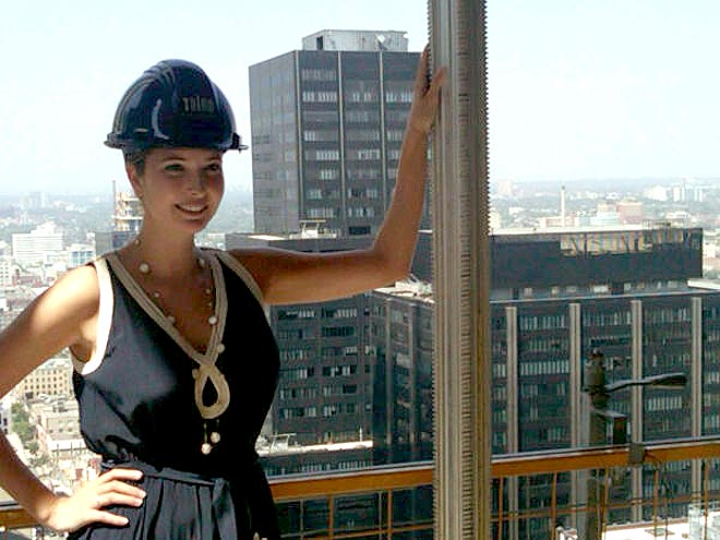 Ivanka with a hardhat