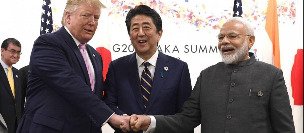 Trump, Modi, and Abe at G20