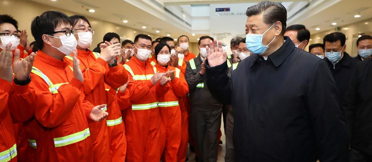Xi with mask