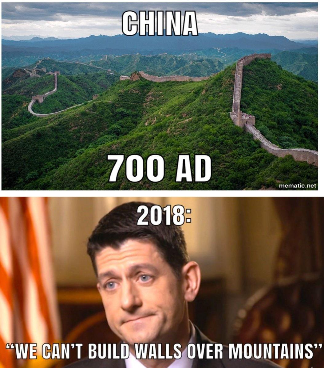 China wall, Paul Ryan