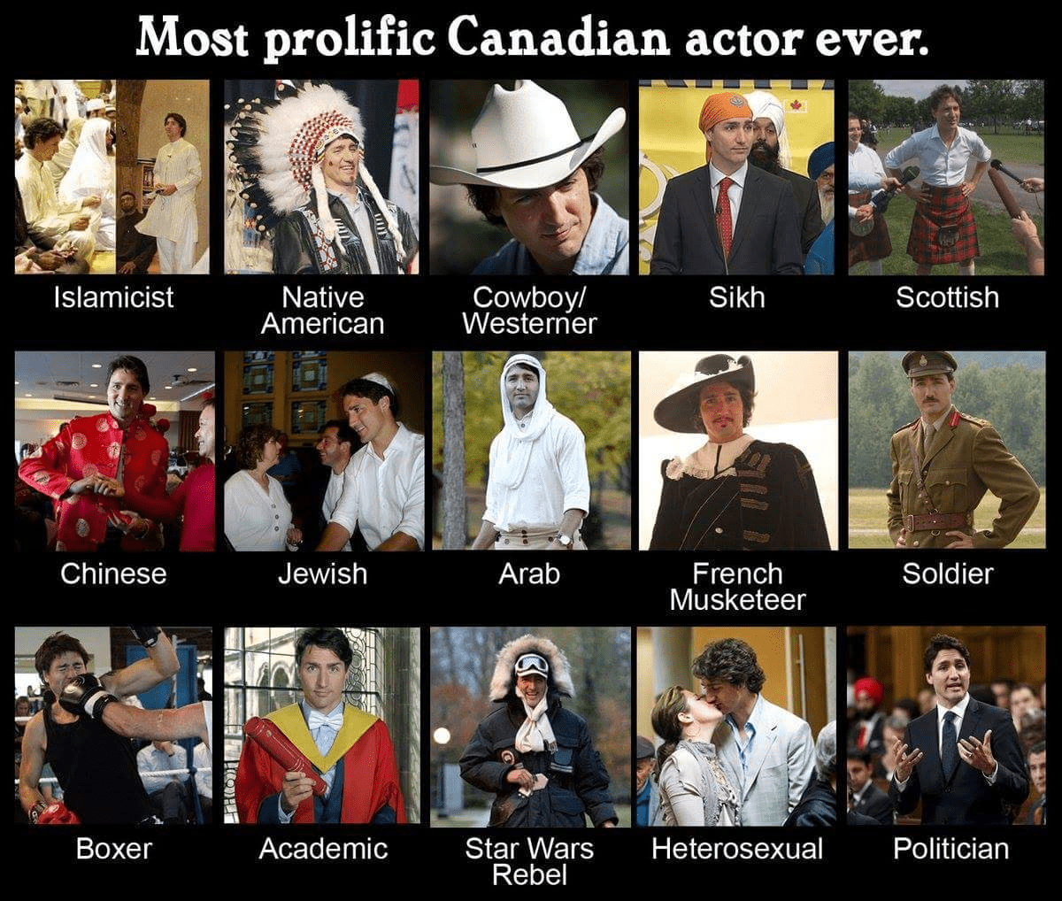 Trudeau the actor.