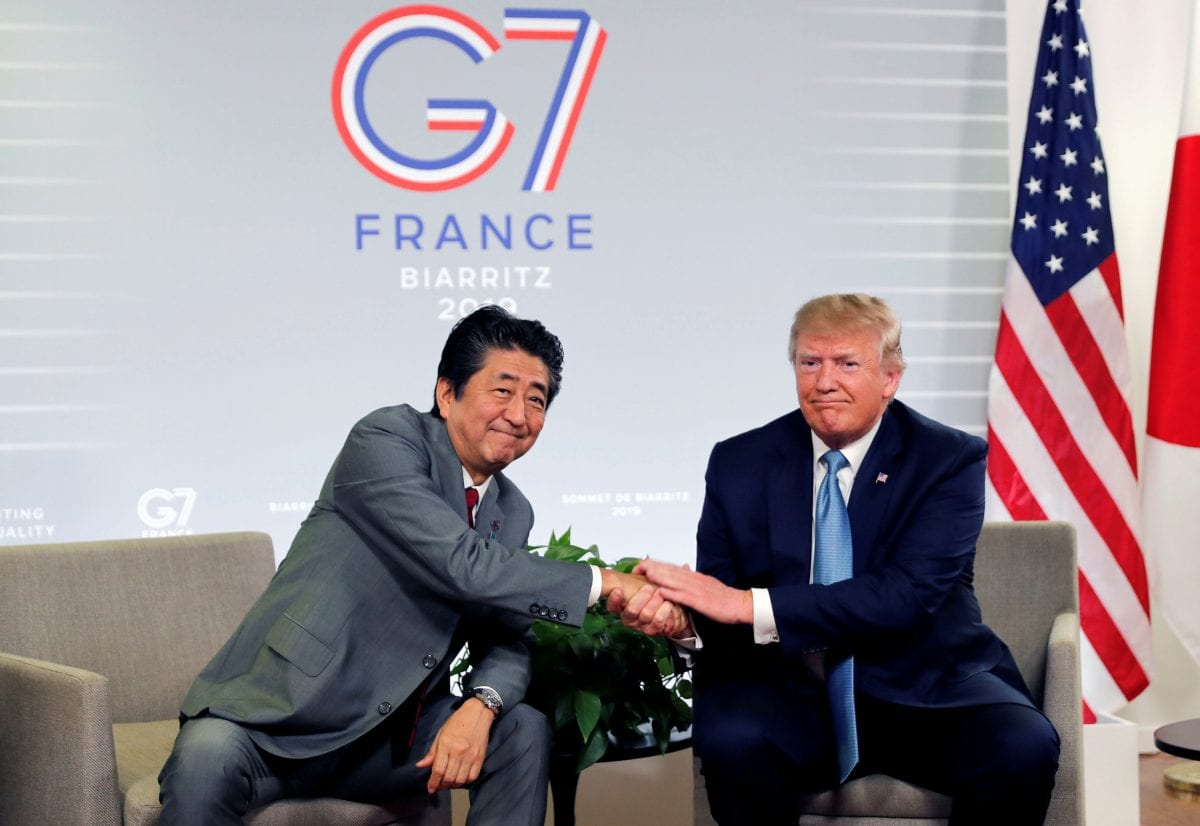 Trump and Abe at the G7